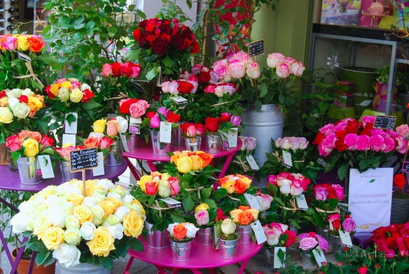 Цветочный магазин  печать на холсте, натянут UkrainArt - фото 1