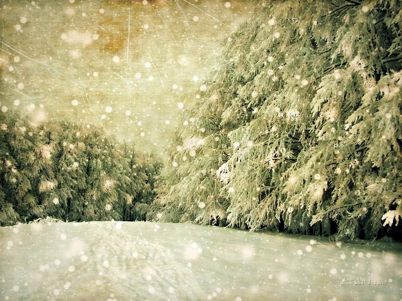 Зима  печать на холсте, натянут UkrainArt - фото 1