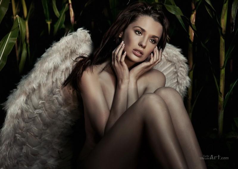 Девушка-ангел  печать на холсте, натянут UkrainArt - фото 1