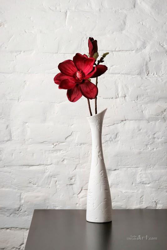 Цветок в вазе  печать на холсте, натянут UkrainArt - фото 1