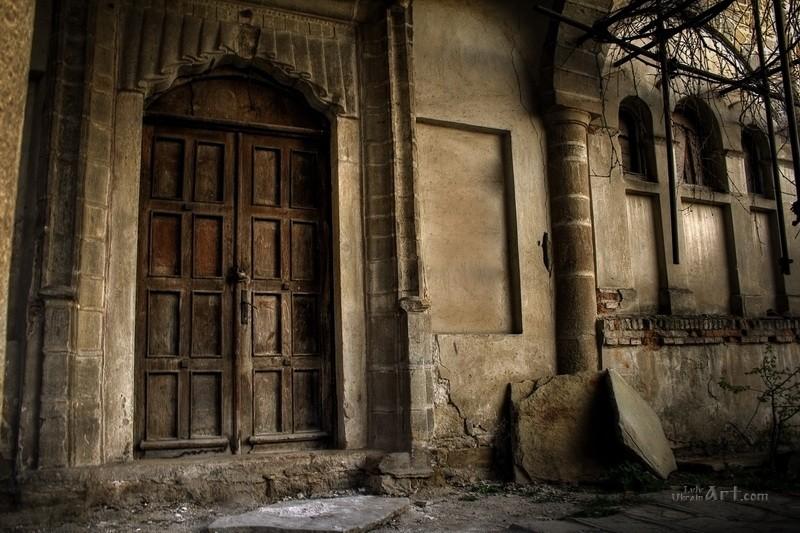 Старые двери  печать на холсте, натянут UkrainArt - фото 1