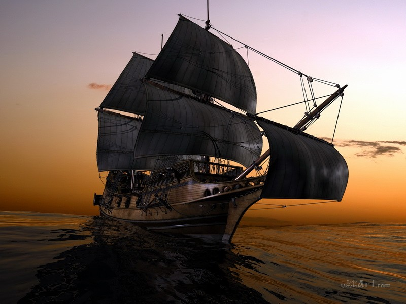 В море  печать на холсте, натянут UkrainArt - фото 1