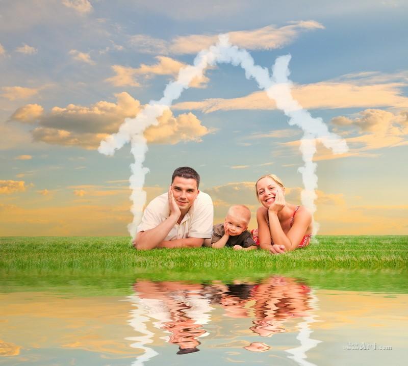 Счастливы вместе  печать на холсте, натянут UkrainArt - фото 1