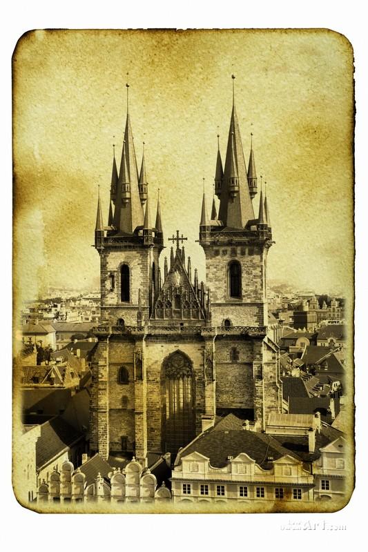 Церковь Девы Марии в Праге  печать на холсте, натянут UkrainArt - фото 1