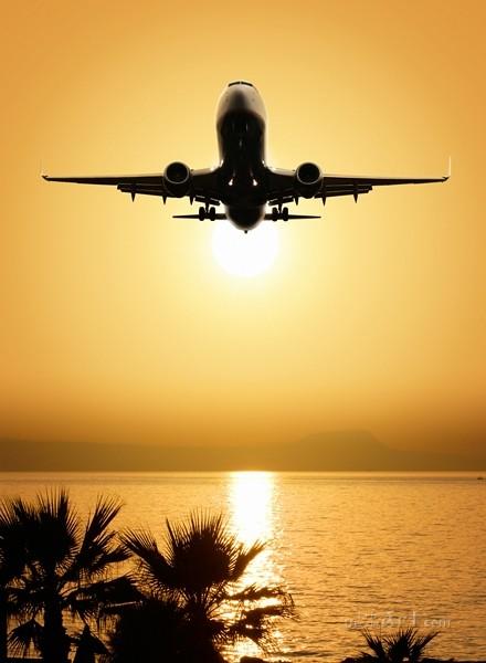 Самолет в небе  печать на холсте, натянут UkrainArt - фото 1
