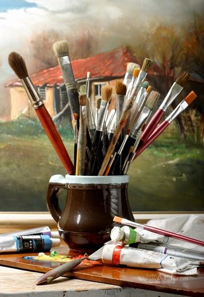 Набор для художника  печать на холсте, натянут UkrainArt - фото 1
