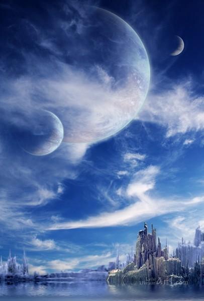Космический пейзаж  печать на холсте, натянут UkrainArt - фото 1