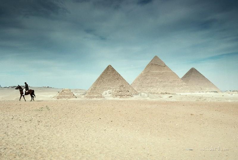 Пирамиды  печать на холсте, натянут UkrainArt - фото 1