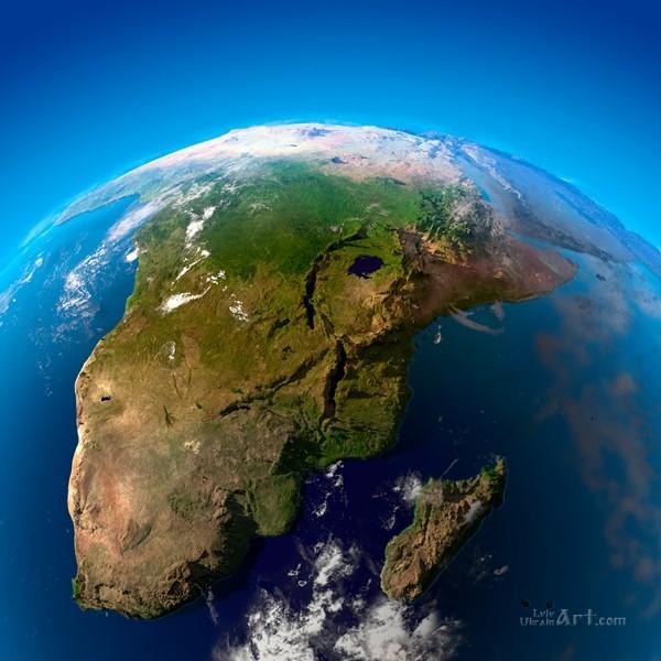 Зеленая планета  печать на холсте, натянут UkrainArt - фото 1