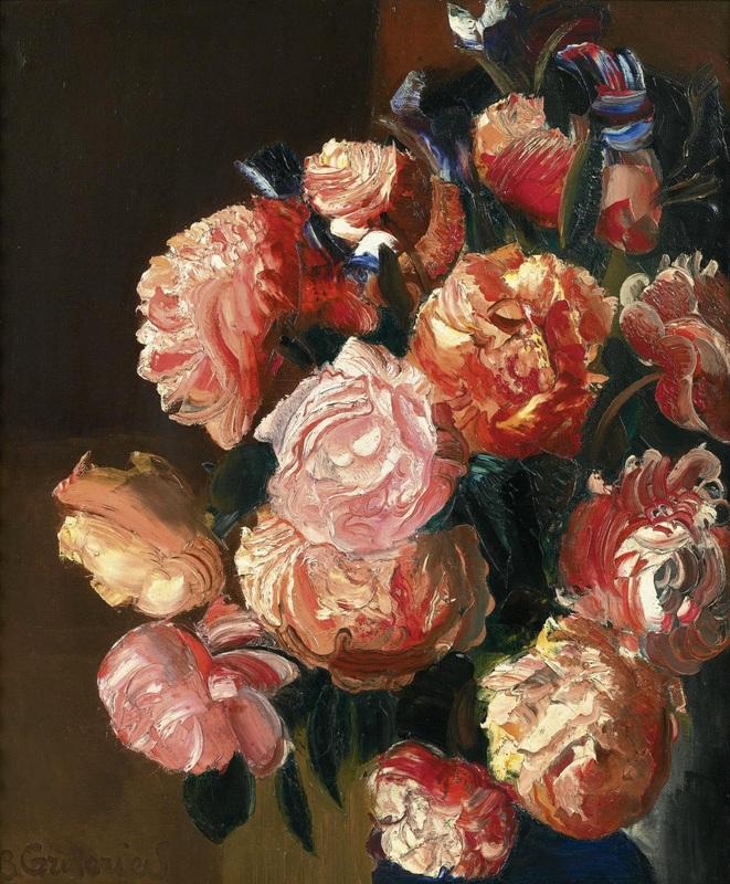 Букет цветов  печать на холсте, натянут Григорьев Борис - фото 1