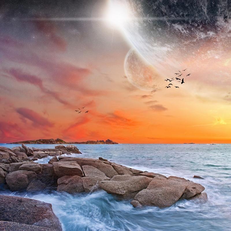 Морський пейзаж  друк на полотні, натягнут UkrainArt - фото 1