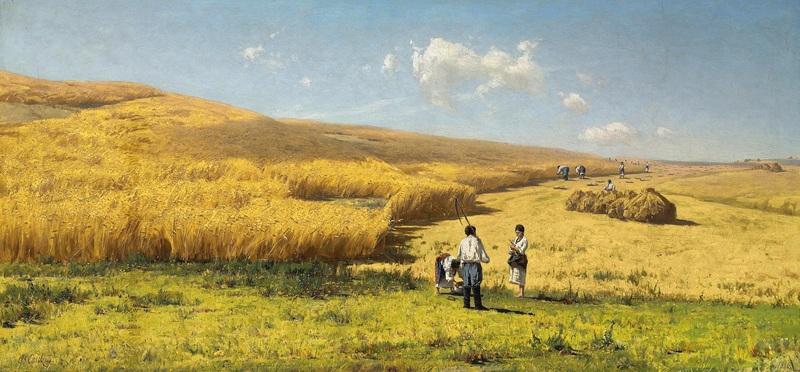 Урожай в Украине  печать на холсте, натянут Орловский Владимир - фото 1