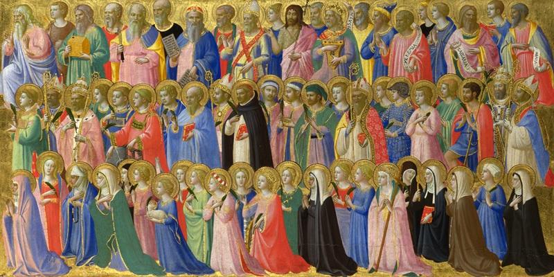 Предшественники Христа, святых и мучеников  печать на холсте, натянут Фра Анджелико - фото 1