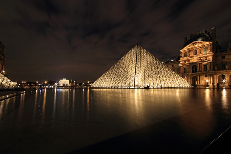 Пирамида Лувра  печать на холсте, натянут UkrainArt - фото 1