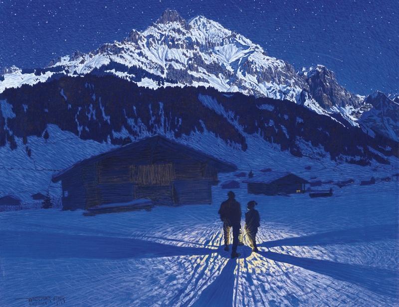 Evening Atmosphere  печать на холсте, натянут Финк Вальдемар - фото 1