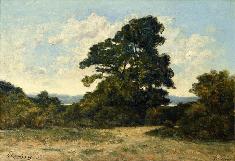 Пейзаж с деревьями  печать на холсте, натянут Арпиньи Анри Жозеф - фото 1