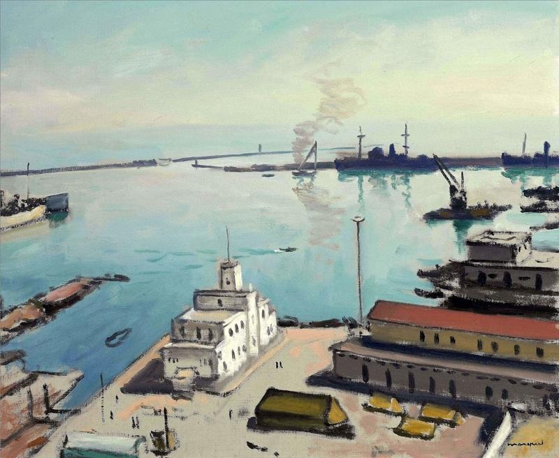 Порт и таможня  печать на холсте, натянут Марке Альбер - фото 1