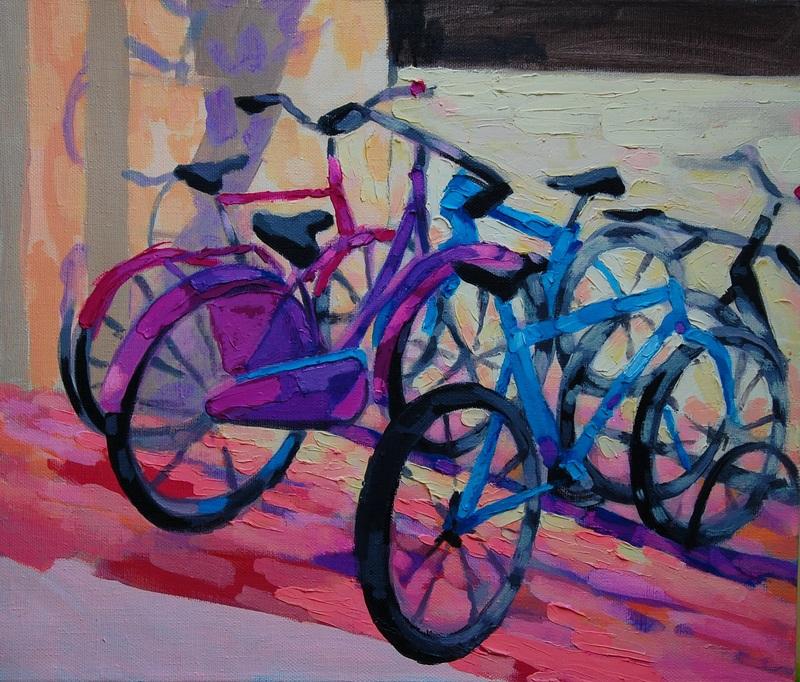 Велосипеды  холст, акрил Грицик Марта - фото 1