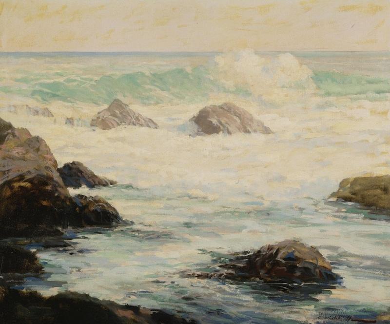 Волны, разбивающиеся о скалы  печать на холсте, натянут Вещилов Константин - фото 1