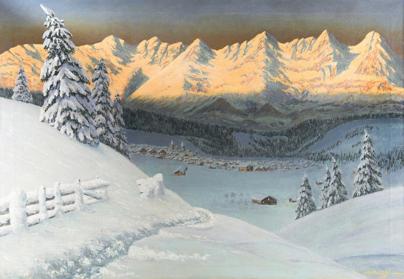 Зимний пейзаж  печать на холсте, натянут Вещилов Константин - фото 1