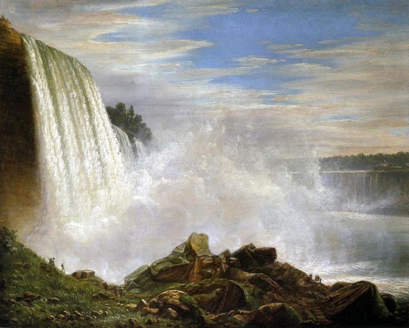Вид Ніагарського водоспаду  друк на полотні, натягнут Ріхардт Фердінанд - фото 1