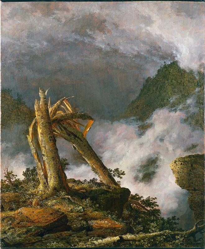 Буря в горах  печать на холсте, натянут Черч Фредерик Эдвин - фото 1