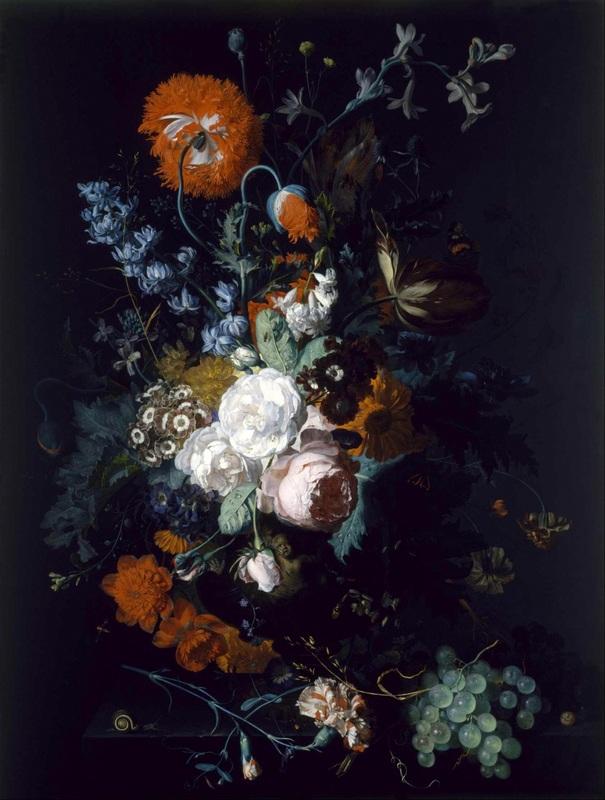 Цветы и фрукты  печать на холсте, натянут Хейсум Ян ван - фото 1