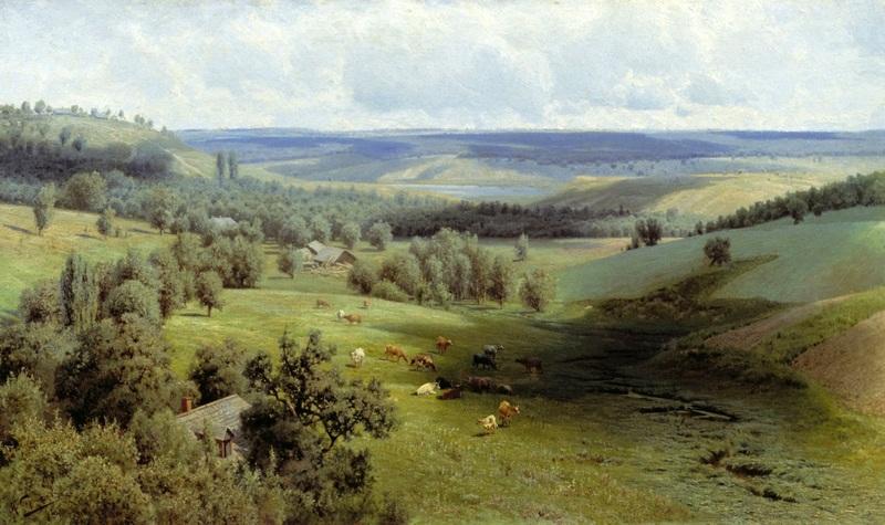 Літній пейзаж  друк на полотні, натягнут Сергєєв Микола - фото 1