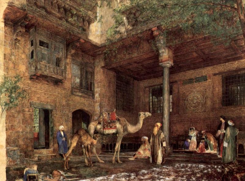 Дом Льюиса в Каире  печать на холсте, натянут Льюис Джон Фредерик - фото 1