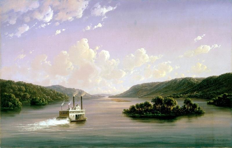 Вид на Міссісіпі  друк на полотні, натягнут Ріхардт Фердінанд - фото 1