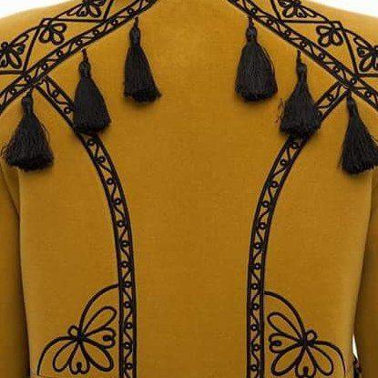 """Пальто """"Злато"""" Желтый итальянская ткань (50% ка 2KOLYORY - фото 5"""