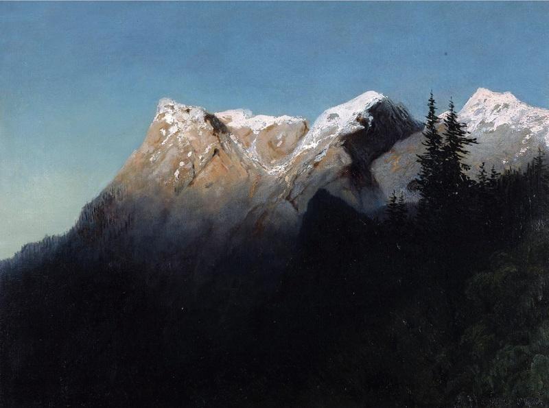 Пики в снегу  печать на холсте, натянут Мещерский Арсений - фото 1