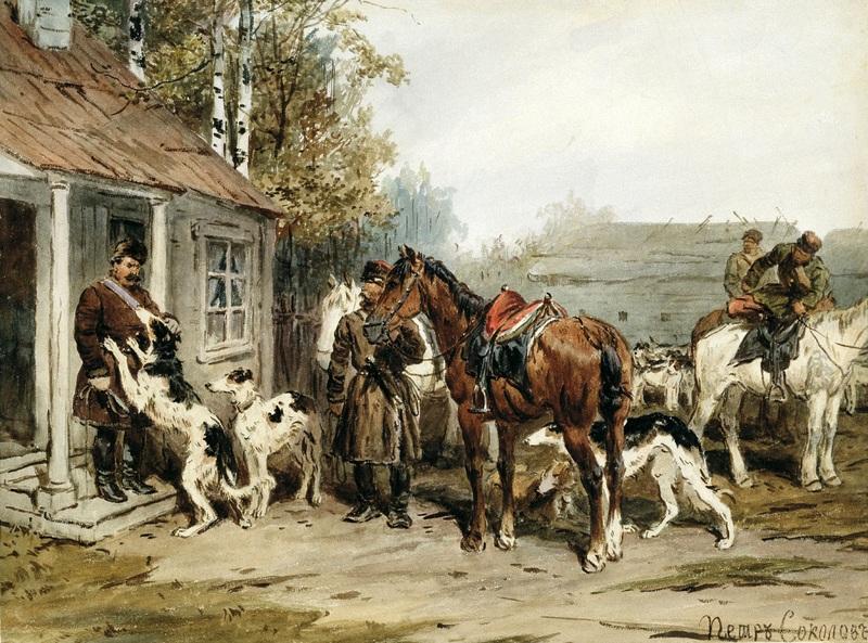 Збори на полювання  друк на полотні, натягнут Соколов Іван - фото 1