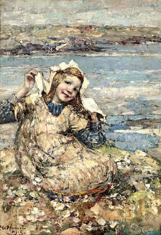 Летом у моря  печать на холсте, натянут Хорнел Эдвард Аткинсон - фото 1