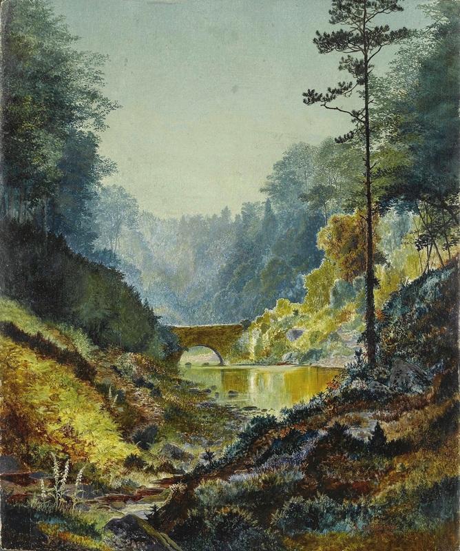 Арка леса Адель  печать на холсте, натянут Гримшоу Джон Эткинсон - фото 1