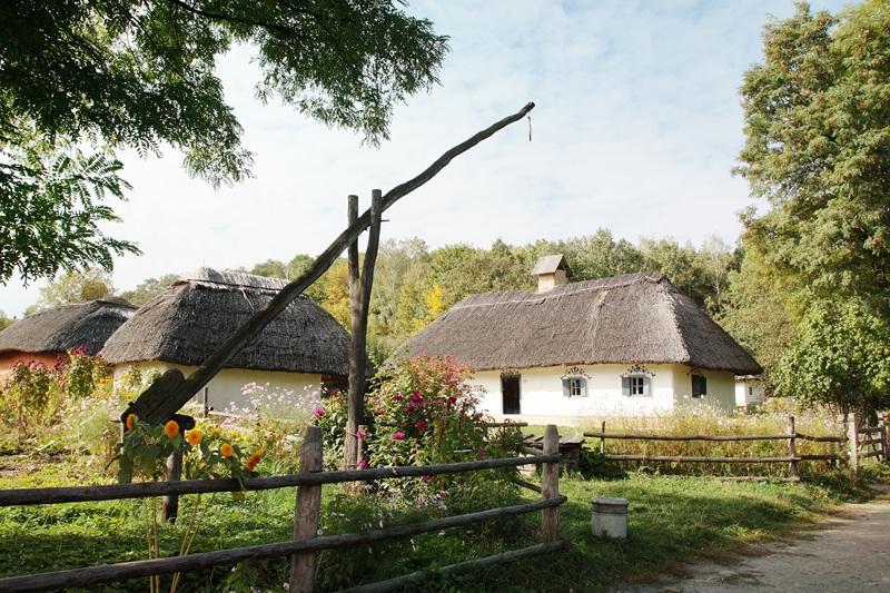 Украинская деревня  печать на холсте, натянут UkrainArt - фото 1