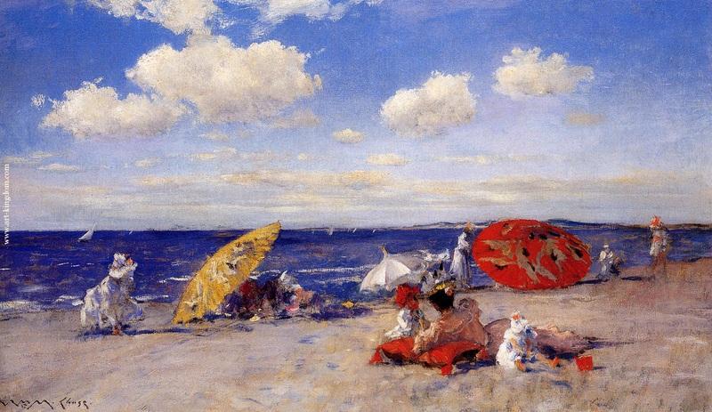 At the seaside  печать на холсте, натянут Потхаст Эдуард Генри - фото 1