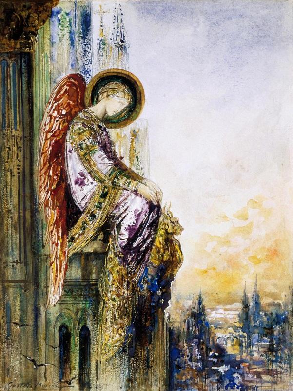 Странствующий ангел  печать на холсте, натянут Моро Гюстав - фото 1