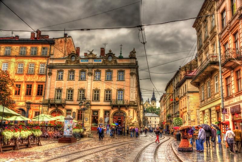 Площадь Рынок во Львове  печать на холсте, натянут UkrainArt - фото 1