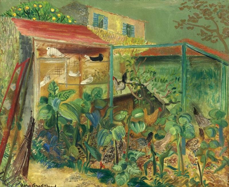 Сцена на ферме  печать на холсте, натянут Григорьев Борис - фото 1