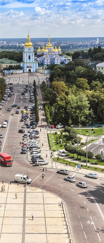 Вид с колокольни Софийского собора. Киев №1  печать на холсте, натянут UkrainArt - фото 3