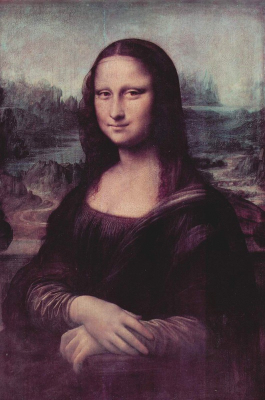 Мона Лиза (Джоконда)  печать на холсте, натянут Леонардо да Винчи - фото 1