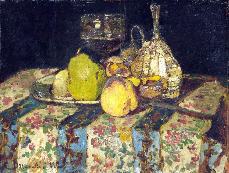 Натюрморт с фруктами  печать на холсте, натянут Монтичелли Адольф Жозеф Тома - фото 1