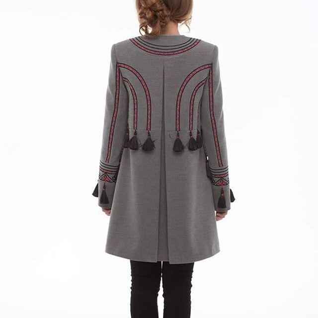 """Пальто """"Два кольори"""" Серый итальянская ткань (50% ка 2KOLYORY - фото 4"""