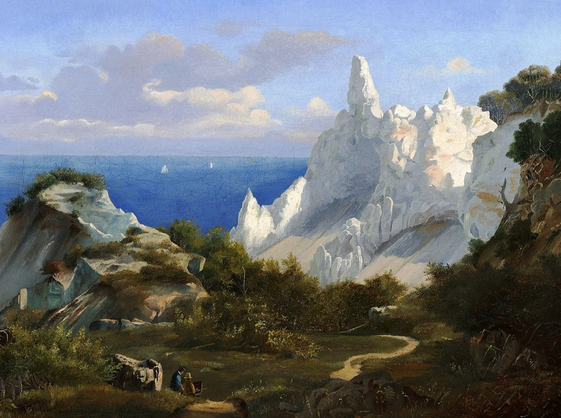 Пейзаж со скалами  печать на холсте, натянут Гурлитт Луис - фото 1