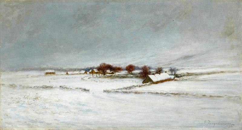 Ферма в Абердиншир, покрытая снегом  печать на холсте, натянут Фаркухарсон Джозеф - фото 1