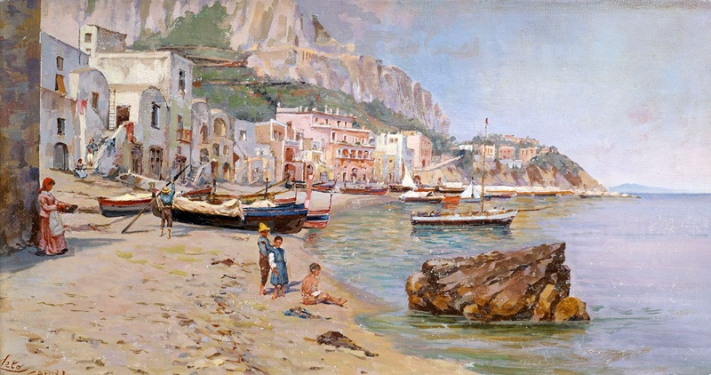 Capri  печать на холсте, натянут Лето Антонио - фото 1