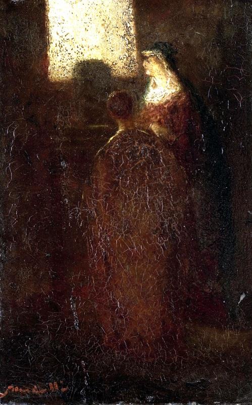 У алтаря  печать на холсте, натянут Монтичелли Адольф Жозеф Тома - фото 1