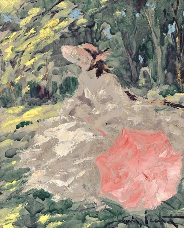Женщина в лесу  печать на холсте, натянут Икар Луи - фото 1