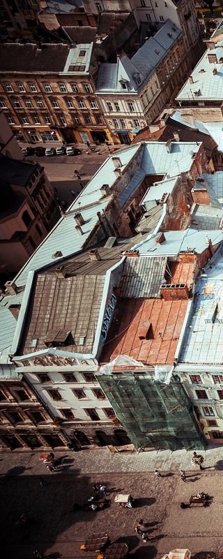 Львов сверху №1  печать на холсте, натянут UkrainArt - фото 2